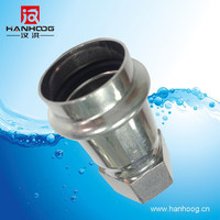 Stainless steel pipe fittings female threaded full coupling socket plain