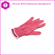 YIBOLI Manufacture Factory outlet anti cut 13 Gauge liner red nitrile dot gloves for anti-cut 5 level