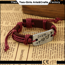 Top products hot selling new 2015 leather bracelet hook clasp
