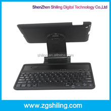 for ipad 2 case with keyboard Bluetooth case rotating detachable keyboard