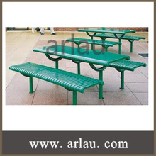 Arlau TB224 Long Uselife Outdoor Furniture Factory Metal Picnic Table Benches