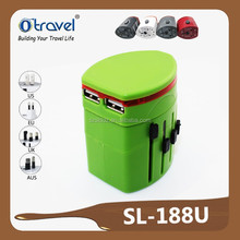 top quality travel plug adapter with usb multi travel plug and socket