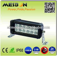 High power output led auto light bar lexan