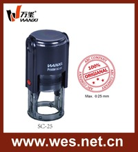 Self-inking Stamp Type And Round Shape Plastic Self-inking Rubber Stamp