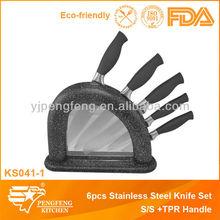 5 piezas cuchillo de cocina conjunto vienen con cuchillo de acero inoxidable