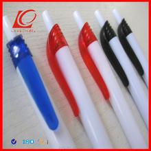 Oblique Barrel Style Twist Action Plastic Ball Point Pen