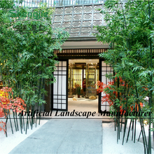 factory customized Artificial plastic/fabric leaves bamboo plants wholesale/fake plante artificiale de bambus.