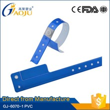 GJ-6070-1 17years manufacture experience one tab high quality pvc wristband