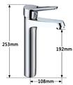 Cuarto de baño b-1211-1c grifo del lavabo grifo