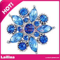 Vintage 35mm Blue Crystal Rhinestone Button For Party/Event
