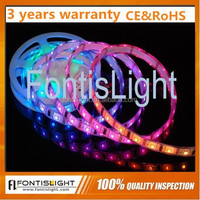 New type WS2811 30leds/60leds waterproof /top quality RGB 5050 LED Strip Input DC12v