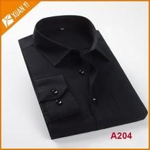 black solid color shirt for business men 4 color can be chosen