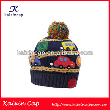 Children Fashion Winter Hats Custom bulk Beanies 2014 New Products with Custom Logo/Cute and Warm Children Pompon Beanie Hat