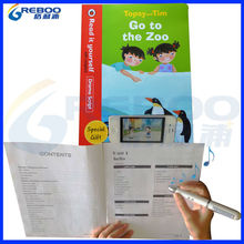 OEM /ODM Interactive bluetooth talking pen to show video by smart mobile and read the OID codes sound books