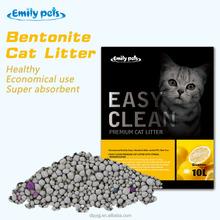High Adsorption Dust Free Bentonite Pet Sand Lemon Fresh