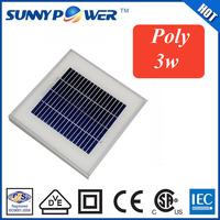 mini solar energy 3w solar module , aluminum frame dongguan manufacturer polycrystalline solar panel