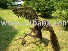 Wire Eagle sculpture