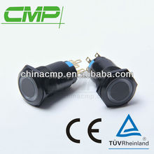 CMP black Waterproof anti-vandal metal colorized push button switch with led illuminated