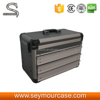 Large Metal Locking Aluminum Carry Case