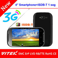 """Hot selling 4"""" Dual core Smartphone with ISDB-T analog tv mobile phone"""
