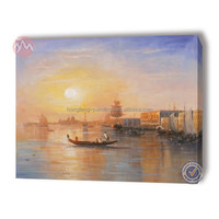High quality boat canvas picture, affordable oil painting for sale