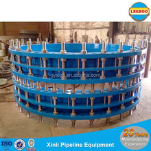 Telescopic pipe dismantling joints for axial displacement compensation