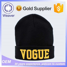 New Style Chinese Products Knitted Long Bulk Knit Hats / Men Cap Knitting Beanie Hat