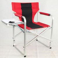 Folding portable metal BBQ chair.