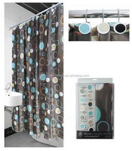fashion shower curtain matching window curtain,waterproof fabric shower curtain