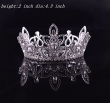 full round girls hair accessories wholesale pageant crowns and tiaras for sale