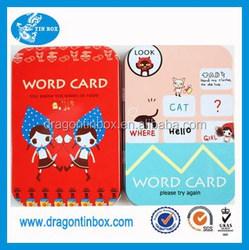 2015 china supplier OEM wholesale rectangular cute metal business card tin box