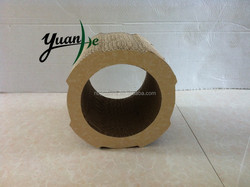 Round Customized Corrugated Cardboard Cat Scratcher Toy Pet Product