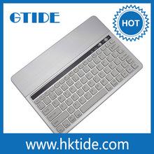Color plata KB651 aluminio cubierta del teclado del bluetooth para el teclado de la computadora tablet android