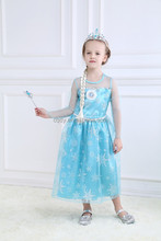 Children Age Group and OEM Service Supply Type 2015 beautiful newest frozen dress elsa for 2-7yrs girls dress