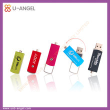 hot selling usb pen drive16gb metal swivel usb falsh drive 2.0 interface swivel usb stick