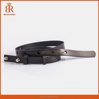 High Quality Metal Buckle Thin Genuine Leather Women's Belt Female Straps Ladies Belts For Women