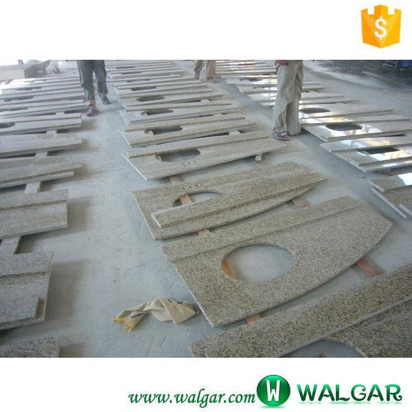 Ready Made Countertops : Yellow granite discount bathroom countertops ready made