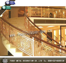 Custom design excellent stair glass railing prices