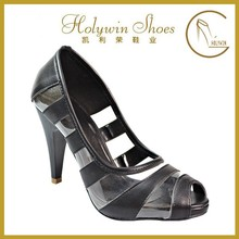 holywin new style black lady high heel