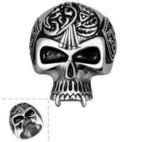 SJ Brand Not Fade Skull Titanium Steel Ring Design