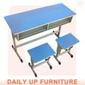 De dos plazas de escritorio de la escuela& silla en el aula de banco de madera muebles mesa de estudio para los niños