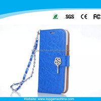 phone leather case for iPhone 5 cell phone case with card holder