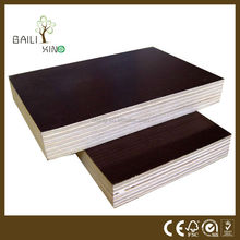 Black and brown color 1220*2440* 12-18mm film faced plywood for construction