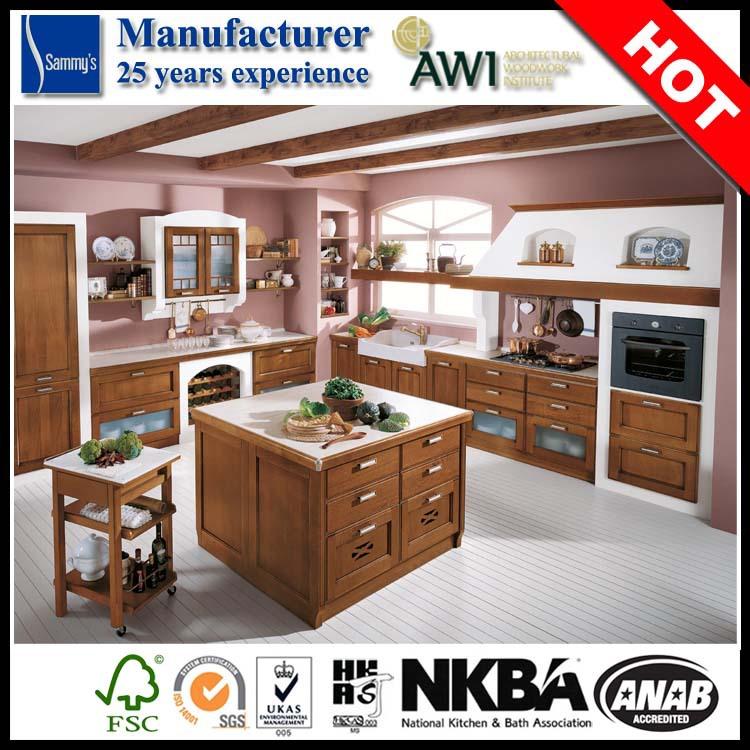 Ak427 luxe en bois massif armoires de cuisine design pour - Cuisine design de luxe ...