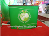 Economical Wooden Board in the Middle of the Frame Stand Better Squared Poles Straight or Curved Shape Aluminum Promotion Tables