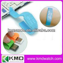 Silicon Digital Watch with USB Storage