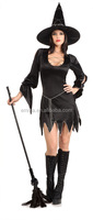 New fashion dark night witch costume sexy halloween fancy dress costumes for women BWG10125