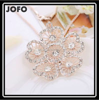 2015 Fashion Trend Imitation Diomand Hollow Heart Flower Necklaces For Christmas Gift ZLJ0221