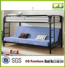 modern high quality double futon bunk bed
