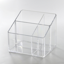 Clear Plastic Makeup Organizer Case with Compartments